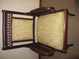 Antique wood carved chair for Sale in Elgin, IL