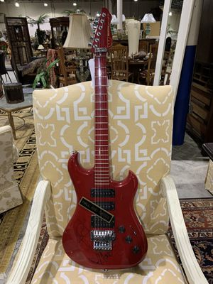 Authentic Hall & Oates Signed Westone Electric Guitar - Red & Black for Sale in West Palm Beach, FL