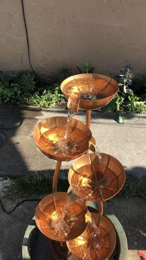 Water fountain 5 copper tiers beautiful brand new for Sale in Highland, CA