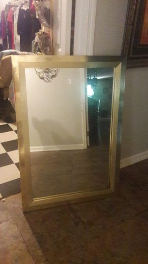 Large gold wall Mirror 3.5' x 2.5' vintage for Sale in Memphis, TN