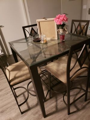 Glass High Top Dining Room Table for Sale in Baltimore, MD