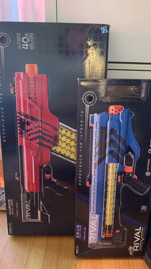 Nerf rival toy guns for Sale in Newark, CA