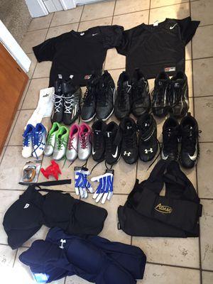 Football baseball soccer pants gloves cleats Jersey Nike under armor Wilson Adidas Easton Starter for Sale in Hampton, VA