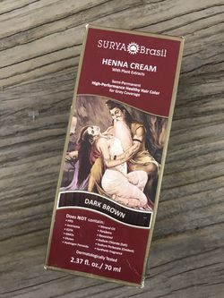 Surya Brasil Dark Brown Henna Hair Coloring Powder Treatment Natural for Sale in New York,  NY