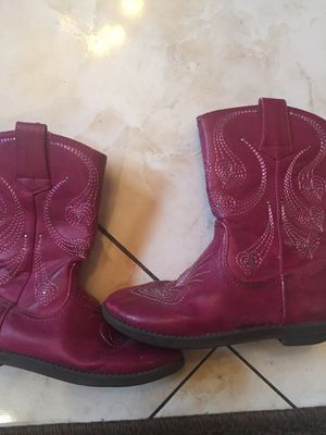 Girls pink boots size 11 for Sale in Los Angeles, CA