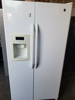 GE white side by side refrigerator 36wide 70tall for Sale in Lakewood, CA