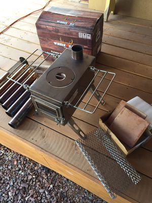 Winnerwell Nomad Medium Stainless Steel, Wood Burning Stove with extras! like new! for Sale in Payson, AZ