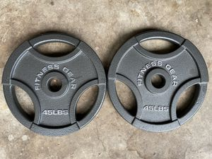 Pair of 45 lb Olympic Weight Plates for Sale in Fairfax, VA