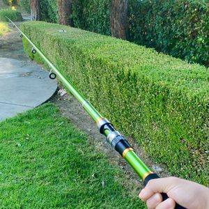 BRAND NEW Lime Green Adjustable Fishing Rod (Just Send Your Offers) for Sale in Riverside, CA