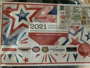 SUPPORT SEMINOLE SCHOOLS: 2020 - 2021 FUNDRAISING COUPON BOOK - Packed full of huge savings for Sale in Casselberry, FL
