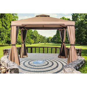 Gazebo patio outdoor tent shade metal backyard waterproof for Sale in Corona, CA
