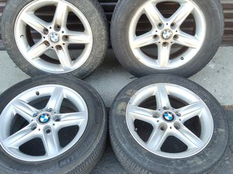 Style 43 BMW 16 inch aluminum wheels from a 3 series fits others for Sale in Pico Rivera,  CA