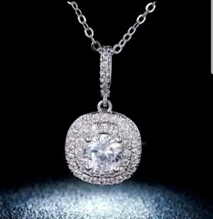 $15 new silver plated adjustable CZ necklace for Sale in Ballwin, MO