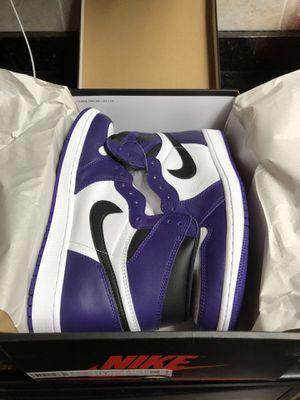 Air Jordan Court Purple 1's for Sale in Warwick, RI