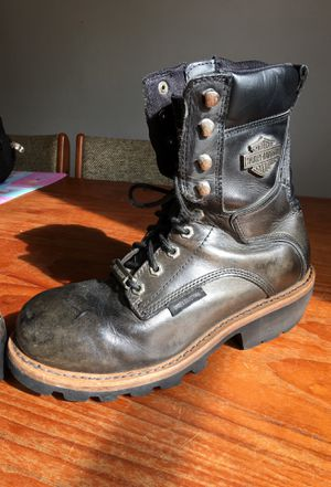 Leather motorcycle riding boots- Authentic Harley Davidson- Men's Sz 10 for Sale in San Diego, CA