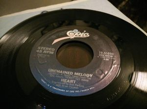 Vintage 1980 Epic Mistral Wind & Unchained Melody Vinyl for Sale in Everett, WA