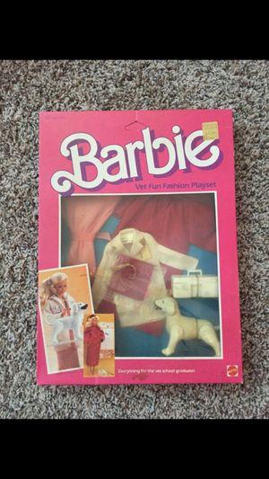 VINTAGE 1984 MATTEL BARBIE VET FUN FASHION PLAYSET NRFB for Sale in Brea, CA