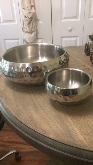 2 piece silver decor/server for Sale in Charlotte, NC