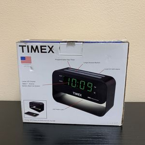 Timex Alarm Clock With USB Charging Port for Sale in Falls Church, VA