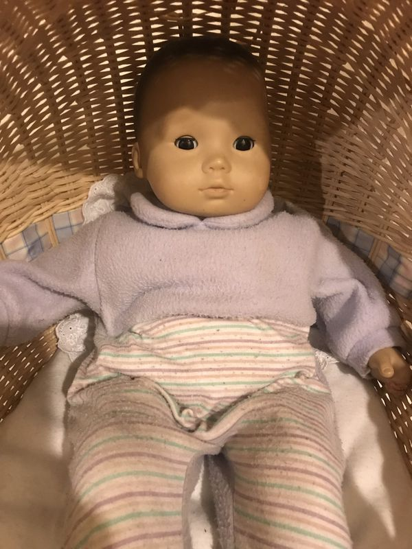 Bitty Baby American Girl Doll with basket, book, and blankets