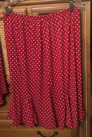 Red Polka Dot Top and Skirt, 1X for Sale in Lakeland, FL