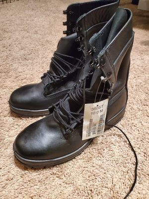 Black Leather, Steel-Toed work boots for Sale in Alexandria, VA