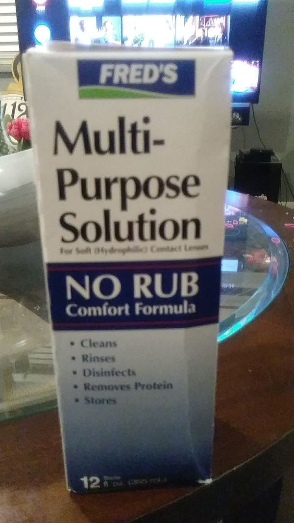 7 boxes of Freds multi-purpose contact solution