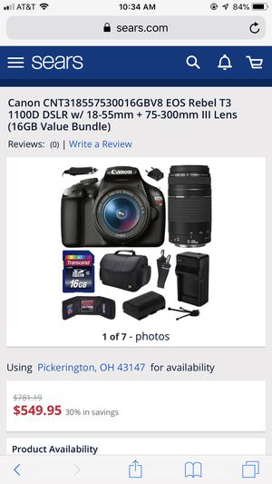 Canon Rebel T3 Camera for Sale in Columbus, OH