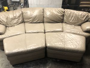 Fantastic real leather sectional couch set for Sale in Bothell, WA