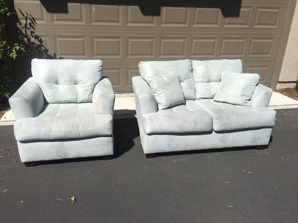 Sensational Ashley Furniture Zia Spa Collection Love Seat And Chair Sold As A Set Only Cash Only For Sale In Tracy Ca Offerup Home Remodeling Inspirations Cosmcuboardxyz