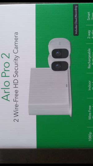 The Arlo Pro 2 outdoor security camera system is completely wireless, works well with other smart home devices, and offers stunning 1080p video for Sale in Garden Grove, CA