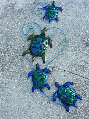 Colorful metal sea turtle wall art for Sale in Dunedin, FL