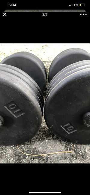 Pair of 80 lbs pounds dumbbells for Sale in Boston, MA