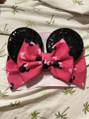 New baby Minnie mouse ears headband for Sale in Justice, IL