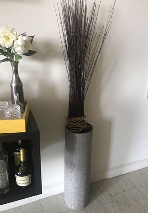 Metallic vase living room decor for Sale in Los Angeles, CA