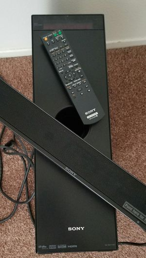 Sony SA-WCT100 Sound Bar W/ Subwoofer & Remote, Excellent Sound - Complete Set for Sale in Escondido, CA