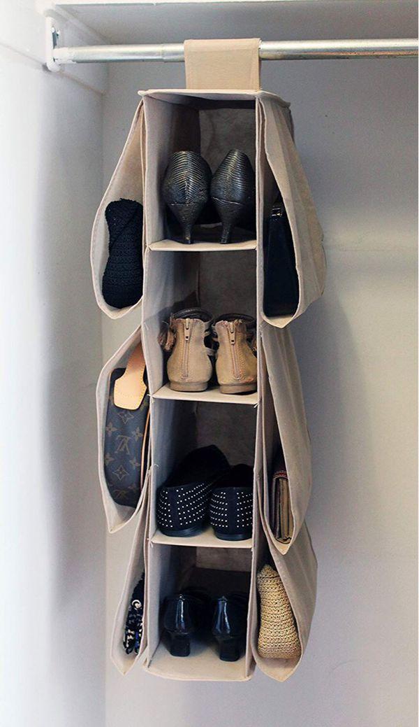 New in box closet storage organizer shoe purse easy to attach or install
