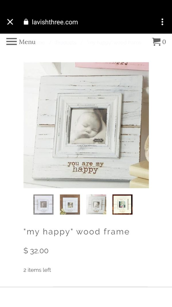 """""""My Happy"""" Wood Picture Frame"""