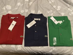 Brand New With Tags Lacoste Polos Shirts 100% Authentic XL & 2XL for Sale in Allen Park, MI