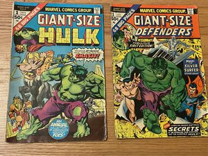 Marvel comic book collection giant size defenders and giant size hulk No.1 1975 for Sale in Crownsville, MD