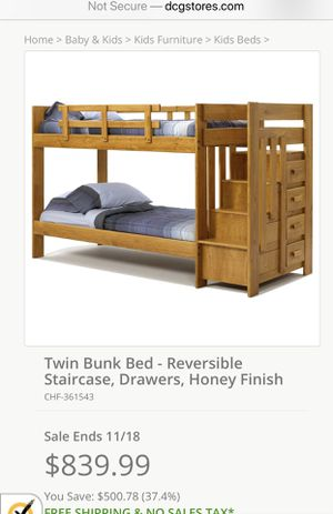 Twin bunk bed for Sale in Durham, NC