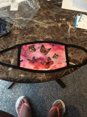Pretty satin reversible butterfly mask for Sale in Parkville, MD
