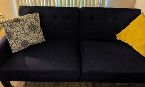 Navy blue futon couch for Sale in Kent, WA