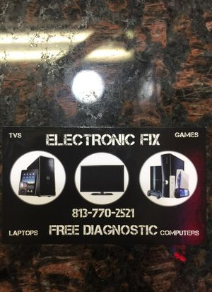 Electronic fix computers, tv, laptops and games for Sale in Tampa, FL