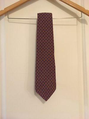 Men's Vintage Burberry Red Blue 100% Silk Patterned Necktie for Sale in Seattle, WA