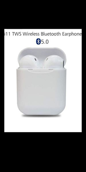 New Wireless Ear-Buds Touch Control Bluetooth 5.0 Easier Pairing Longer Distance Best Sound Quality Sweatproof, Earbud Holder for Charging like Airpod for Sale in El Monte, CA