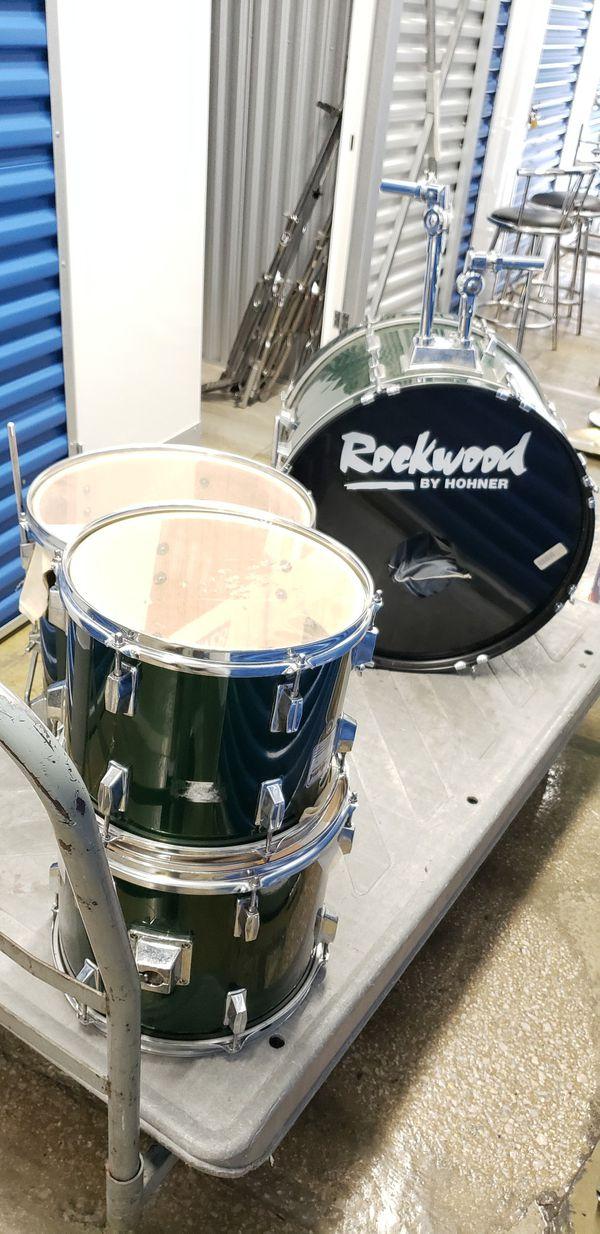 Green Rockwood By Hohner Drum Set