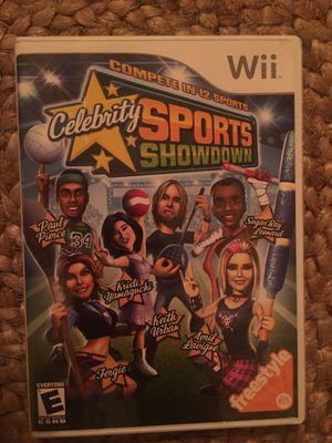 Nintendo Wii celebrity sports showdown for Sale in Visalia, CA