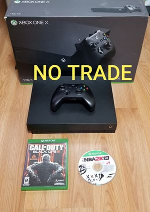 XBOX ONE X BUNDLE, PRICE FIRM, GREAT CONDITION, READ DESCRIPTION FOR OPTIONS for Sale in Santa Ana, CA
