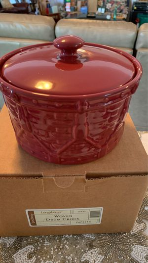 Longaberger Woven Drum Crock Pottery for Sale in Indianola, IA